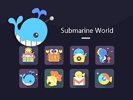 海底世界 主题图标 手机主题GUI