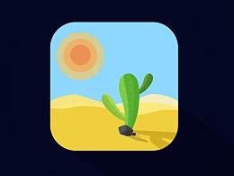 #icon#仙人掌在沙漠