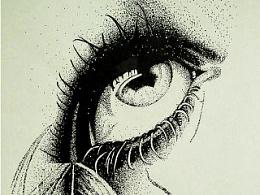手绘练习 黑白世界