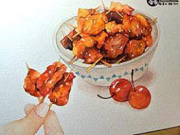 金鱼手绘美食——牙签肉