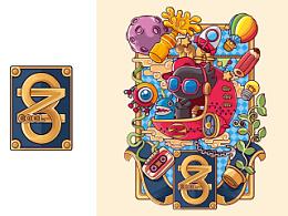 站酷八周年纪念T恤 狂奔的包子插画铺 X ZCOOL