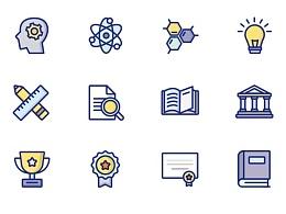 教育类图标和插画