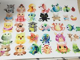 水彩卡通小动物合集