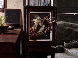 粘土浮雕画/鹿