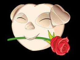 《国宠》形象颜文字 玫瑰金版海报