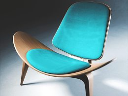 shell chair 2000px FStorm render 18min