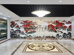 酒店墙绘 酒店彩绘 酒店壁画 别墅手绘