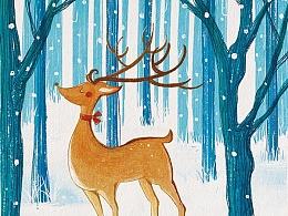 野生动物小说--封面插画