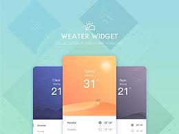 【天气】Weather Widget界面设计