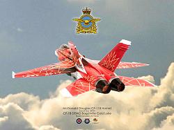"""1/72 加拿大空軍 CF-188 150週年紀念塗裝 """"楓葉紅蜂"""""""