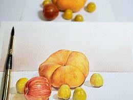 画完就把桃给盘了