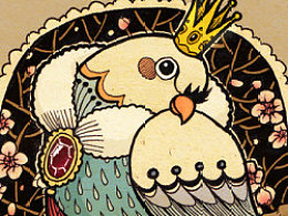 Bird Kingdom--鸟儿王国系列插画