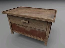 PBR材质//旧木桌
