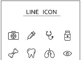 医疗图标 线条icon练习