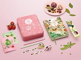 《食物恋》传家餐桌手账礼盒︱食物,是我们用来疼爱彼此的方式