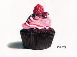 树莓纸杯蛋糕