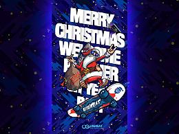 不是所有的圣诞老人都骑麋鹿