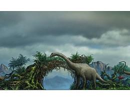 恐龍主題大門