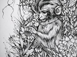 猴年己去迎来鸡年.从2015年创作的生肖系列,比名也由浅蓝改为小猪先生了。