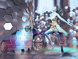 星系跑车渲染设计——颜小顺
