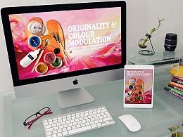 化妆品海报 BEAUTY VISION可调色散粉主视图海报 概念海报