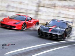 2013新春第一炮Ferrari458Italia&ViperSRT