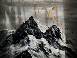 原创-《雪山》
