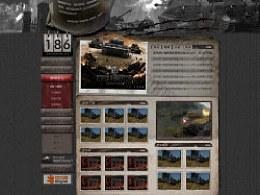 2011一款代理游戏《坦克世界》的主页设计
