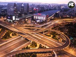 北京西直门桥夜景