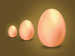 凭感觉画的鸡蛋