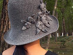 嘉设计-手工玫瑰草帽