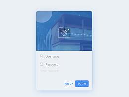 app登录注册交互动画