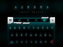 百度输入法皮肤设计 - AURORA