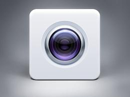 白色相机图标