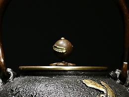 沐焱堂 喜上梅梢铁壶 铸铁 鎏金无涂层纯铁煮茶 养生茶壶出口日本