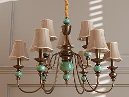 闲情小调-一堆家具和灯