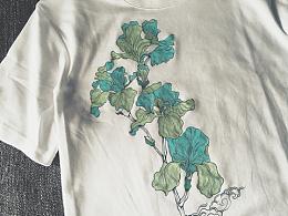 五月.手繪植物.T恤