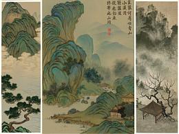 之前画的一些传统山水画,花鸟画