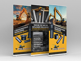 Get Axis Parts pull up banner design 拉起横幅设计
