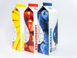 Milktalk-水果牛奶包装设计(作业)