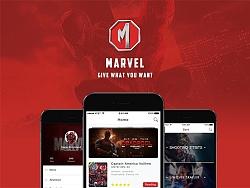 Marvel App界面