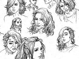 各种发型的头像
