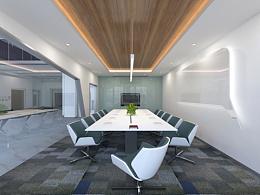 办公大堂及会议室设计效果图