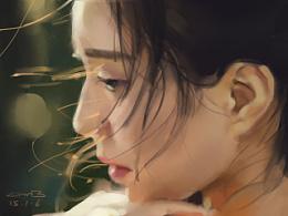 女孩肖像练习