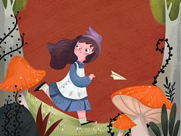 儿童插画绘本-爱丽丝梦游仙境