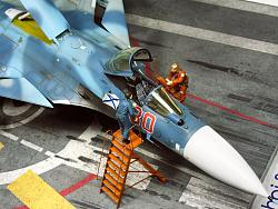 """1/72 俄羅斯海軍 蘇-33 海側衛 """"紅色80"""" 「場景篇」"""