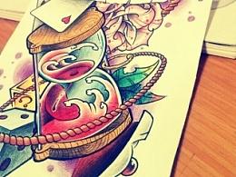 纹身手稿——小丑添加