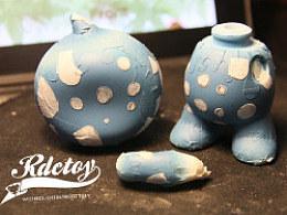 rdctoy涂装作品(熊小叶和淘水胖)制作过程
