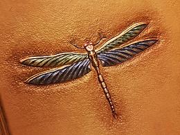 皮雕小蜻蜓