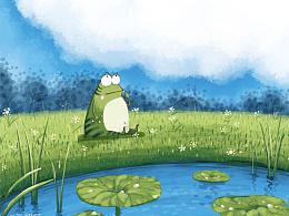 儿童插图也是画过一些滴